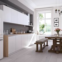 white kitchen fitting in home